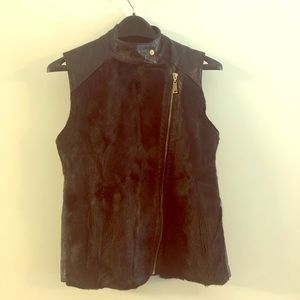 Trilogy Fur /Leather Vest exclusively for Saks